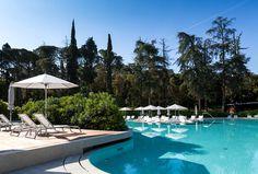 Outdoor Pool Hidden in Forest Park - #outdoor, #architecture, #house, #landscaping, outdoor, architecture