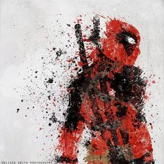 Our Favorite Superheroes Get 'Splattered' - DesignTAXI.com #comics #art #deadpool