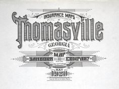 BibliOdyssey: Sanborn Fire Insurance Map Typography #typography