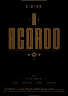 O Acordo #post #lettering #design #poster #type