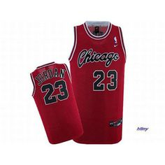 Michael Jordan Chicago Red Nike Jersey #23 Black Number