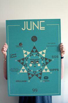 'Whats on' monthly posters #blazed #sun #print #graphic #doobies #geometric #schedule #poster #monthly