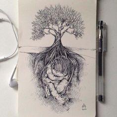 Black Pen Illustrations