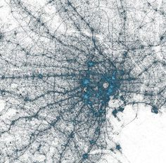 CJWHO ™ (Major Metropolises Visualized Through Tweets 1....) #metropolises #design #landscape #moscow #illustration #tokyo #twitter #art #york #europe #new