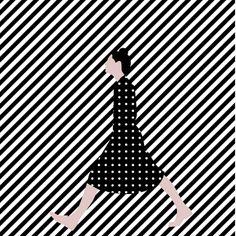 Geometric illustrations on Behance #Illustration #illu #geometric #person #lines #dots #pattern #wlking #iconic #icon #human