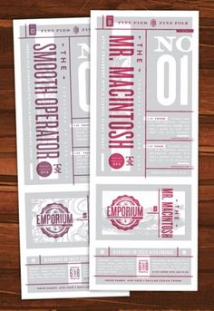 design work life » cataloging inspiration daily #labels #design #color #two #package