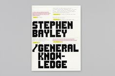 Booth-Clibborn Editions – Stephen Bayley: General Knowledge 2000 | Publication | Graphic Thought Facility #graphic #book #thought #facility