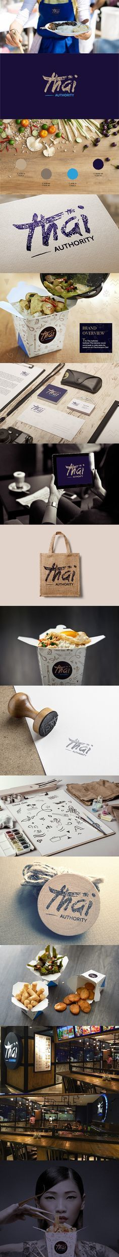 Client: The Thai AuthorityMedium: Art Direction, Logo & Corporate IdentityAbout: The Thai Authority is an authentic Thai takeaway cuisine se