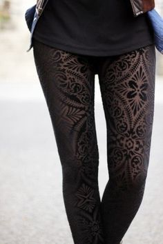 Fashion / awesome #sexy #pattern #stocking #legs