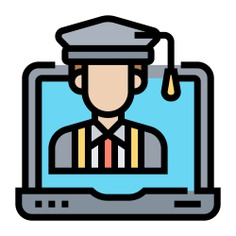 See more icon inspiration related to student, school, elearning, graduation hat, training, learning, mortarboard, graduate, presentation, education, user, analysis, fashion, online, graduation, avatar and computer on Flaticon.