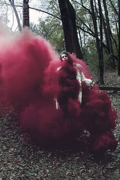 . #photo #red #smoke