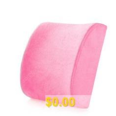 Memory #Cotton #Lumbar #Pillow #Pillow #Office #Waist #Car #Seat #Lumbar #Support #Lumbar #Cushion #Pillow #Chair #Back #Cushion #Waist #- #SHORT #PLUSH #PINK