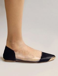 Pony lucite flats #shoes #flats #pony