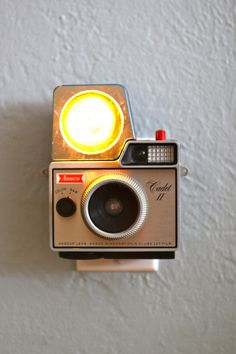 Vintage Camera Nightlight - Ansco Cadet II w/flash | #camera #nightlight #vintage