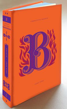 B #hische #orange #book #cover #drop #cap #jessica #daily #type