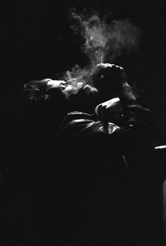 Tom Waits photo by Kirk West #smoke #black #tom #photography #waits