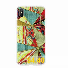 TPU #Geometric #Marble #Painted #Phone #Case #for #iPhone #Xs #Max #- #MULTI-K