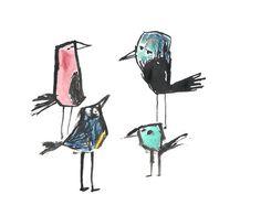 Birds #ink #bird #illustration #watercolor #drawing