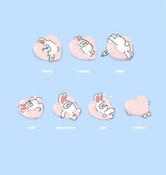 What is your Sleeping Pose? -Sleeping RABI Character