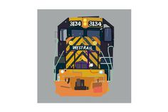 FREIGHTTRAIN03_framed #digital #paint