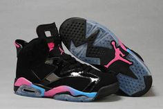 Sky Blue and Pink/Black Retro 6 Jordan Basketball Sports Shoes Mens(Another Look) #shoes
