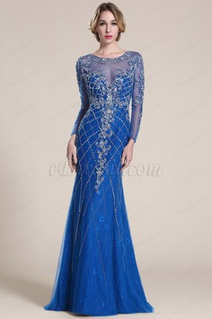 eDressit Sparkling Blue Beaded Prom Dress Formal Gown (C36152705)