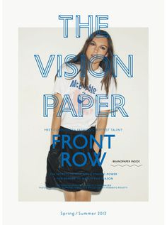 The Vision Paper by Mark Brunswicker #print #design #typography