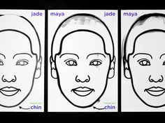 Maya Jade Chin #poster #thermochromic #heat #face #illustration #black #white