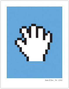 PAN HAND | Susan Kare Prints #poster #icons #apple