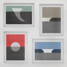 Minimalist Surf Art, Emil Kozak Designstudio #prints #minimal #surf