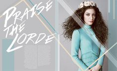 Portfolio / Layout / Lorde Profile Design #design #spread #lorde #music #layout #magazine #typography