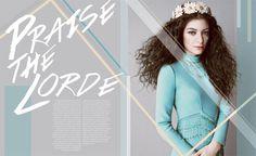 Portfolio / Layout / Lorde Profile Design #design #spread #lorde #music #layout #magazine #typography