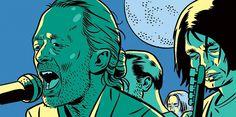 Kristian Hammerstad illustration - The new yorker radiohead