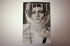 WILDE Magazine on Typography Served #white #black #cover #and #wilde #magazine #typography