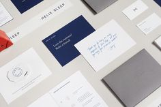 Helix Sleep Branding & Packaging by High Tide NYC. #branding #packaging #print #editorial #artdirection #logo #wordmark #icon #envelope #de