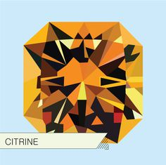 Illustrations_Gems : Adrineh Asadurian #illustration #orange #citrine #gems