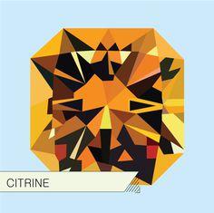 Illustrations_Gems : Adrineh Asadurian #illustration #orange #citrine #gems