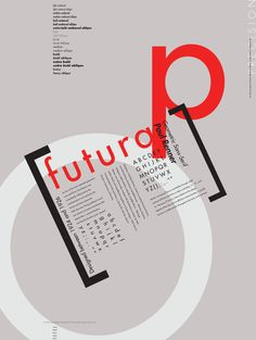 Cargo Collective FuturaPoster #type specimen poster