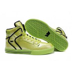 Supra Vaider Neon Green TUF High Skate Shoe-Men's #shoe