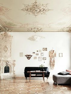 Apartments in Copenhagen #interior #couch #classic #avant #beige #vintage #garde