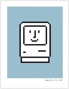 smiling-computer-blue.png (441×569) #print #apple #kare