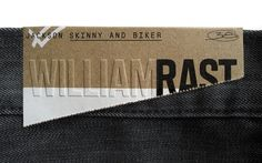 Jean Label #emboss #raw #label #cardboard
