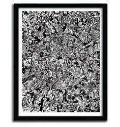 Monster Battle Royale by Lei Melendres #print #art