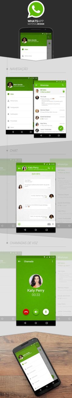 WhatsApp | Material Design Concept by Mário Gomide