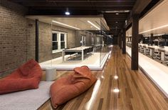 Old Factory Turned to Cozy Office Space - #office, office design, office space, #interior, interior design