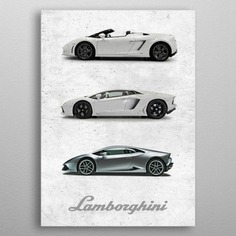 Lamborghini metal poster