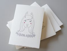 Christmas Card 2012 #girl #card #christmas #illustration #xmas