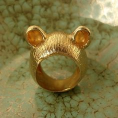 The Golden Teddy Ring - I'm All Ears Series ($110.00) - Svpply #ring