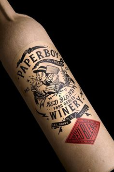 Paperboy on Packaging of the World Creative Package Design Gallery #recyclable #wine #bottle