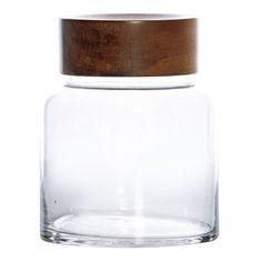 Mangrove Round Lidded Cylinder Jar, 18 cm